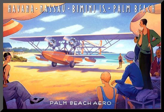 Palm Beach Aero-Kerne Erickson-Mounted Print