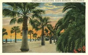 Palm Trees on Cabrillo Boulevard, Santa Barbara, California