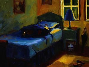 Bed in Leslie's Cottage by Pam Ingalls