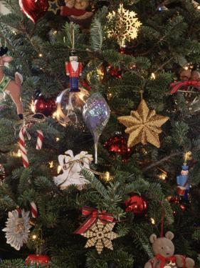 Christmas Ornaments on Tree by Pam Ostrow