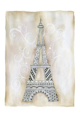 Eiffel Scroll by Pam Varacek