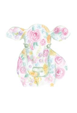 Floral Cow by Pam Varacek