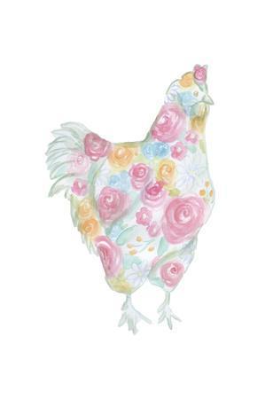 Floral Hen