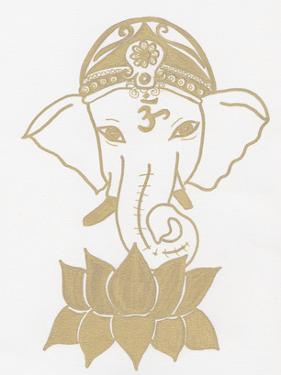 Golden Elephant Lotus by Pam Varacek