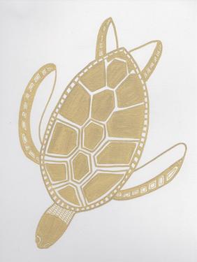 Golden Sea Turtle by Pam Varacek