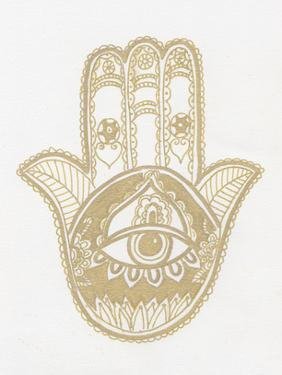Hamsa Hand Gold by Pam Varacek