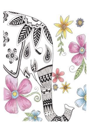 Tribal Elephant Portrait by Pam Varacek