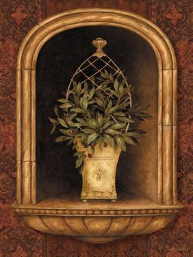 Olive Topiary Niches II by Pamela Gladding