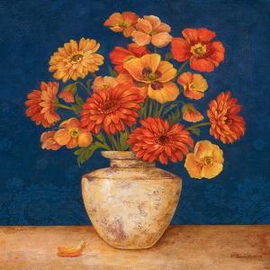 Poppies and Indigo I by Pamela Gladding