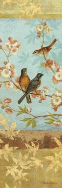 Robins and Blooms Panel by Pamela Gladding