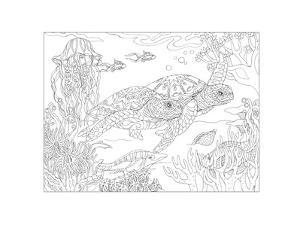 Sea Turtles - Sea of Tranquility by Pamela J. Smart