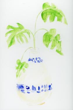 Blue and White Botanical IV by Pamela J. Wingard