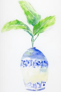 Blue and White Botanical by Pamela J. Wingard