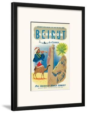 Pan American: Beirut - Lebanon by Clipper c.1950s