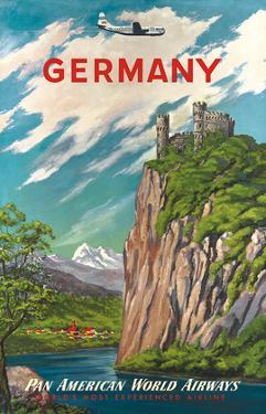 Pan American: Germany der Rhine, c.1950s