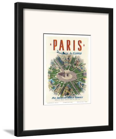Pan American: Paris by Clipper, c.1951