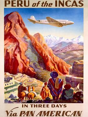 Pan American Peru of the Incas Poster