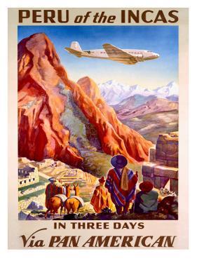 Pan American Peru of the Incas Poster