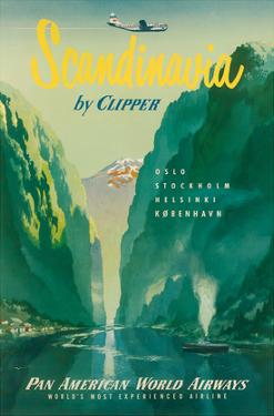 Pan American: Scandinavia by Clipper, c.1951