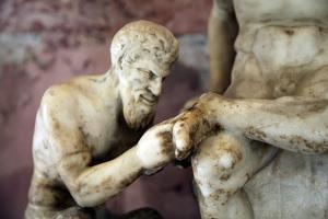 Pan and Satyr, Pan Removing a Splinter from a Satyr's Foot