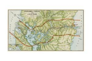 Panama Canal Zone Map, 1913 - north Diagonally Left