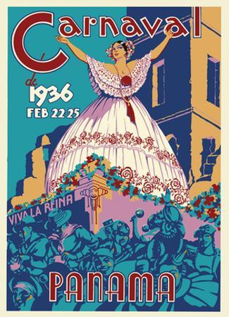 Panama Carnaval de (Carnival of) Feb 22-25, 1936 - Viva La Reina (Hail to the Queen)