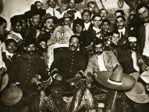 Pancho Villa in the Presidential Chair with Emiliano Zapata at His Side, Mexico City, 1914-5