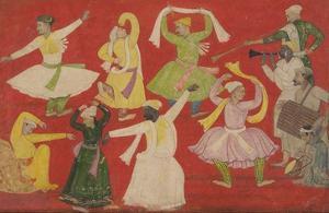 Dancing Villagers, 1730 by Pandit Seu