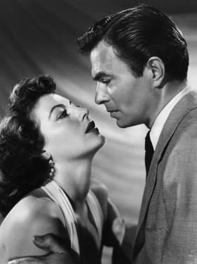 PANDORA AND THE FLYING DUTCHMAN, 1952 directed by ALBERT LEWIN Ava Gardner and James Mason (b/w pho