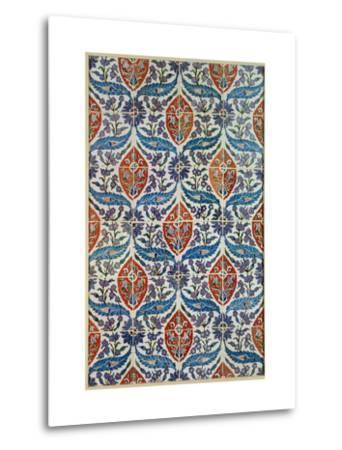Panel of Isnik Earthenware Tiles from the Baths of Eyup Eusaki, Istanbul, circa 1550-1600