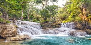 Kuang Si Falls, Luang Prabang, Laos by Pangea Images