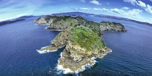Aerial view of Islands, Bay of Islands, North Island, New Zealand by Panoramic Images