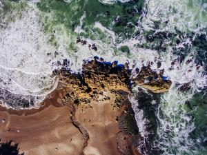 Aerial view of the beach, Newport, Lincoln County, Oregon, USA by Panoramic Images