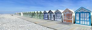 Bathing cabins on the beach, Cayeux-sur-Mer, Somme, Hauts-de-France, France by Panoramic Images
