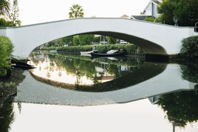 Bridge reflecting in water, Venice Beach, Los Angeles, California, USA by Panoramic Images