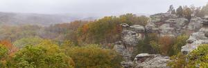 Camel Rock with autumnal trees, Garden of the Gods Recreation Area, Shawnee National Forest, Sal... by Panoramic Images