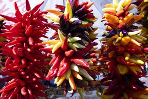 Chili peppers for sale at market, Seattle, Washington, USA by Panoramic Images