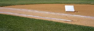 Close-up of 1st base, First Base, baseball stadium, New York City, New York State, USA by Panoramic Images