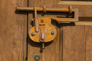 Close-up of an old lock, Santa Fe, New Mexico, USA by Panoramic Images