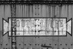 Close-up of freight railroad car, South Shore Line, Chicago, Cook County, Illinois, USA by Panoramic Images