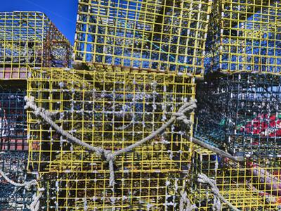 Close-up of lobster traps, Badger's Island, Piscataqua River, Kittery, Maine, USA by Panoramic Images