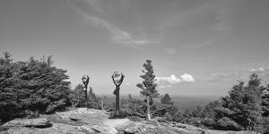 Coin operated binoculars on Grandfather Mountain, Grandfather Mountain State Park, Linville, Nor... by Panoramic Images