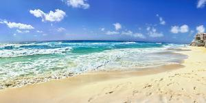 Footprints on the beach, Cancun, Mexico by Panoramic Images