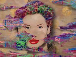 Glitch style 80's lady fantasy by Panoramic Images