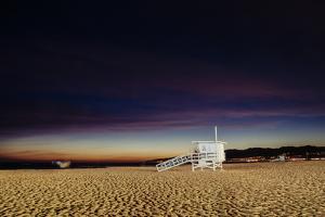 Lifeguard hut on the beach, Santa Monica State Beach, Santa Monica, California, USA by Panoramic Images