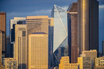 Modern architecture in city, Seattle, Washington, USA by Panoramic Images