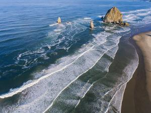 Rocks on the beach, Cannon Beach, Oregon, USA by Panoramic Images