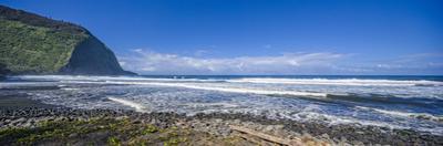 Rocky Beach at Waipio Valley where Waipio River enters ocean, Hamakua District, Hawaii, USA by Panoramic Images