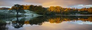 Scenic landscape reflecting in lake, Lake District, Cumbria, England, United Kingdom by Panoramic Images