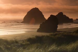 Scenic view of rock formations, Cannon Beach, Oregon, USA by Panoramic Images